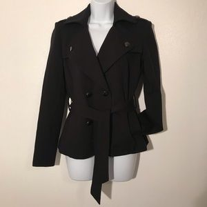 Cache Short Belted Trench Jacket